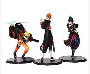 Kit 03 personagens Naruto Shippuden Pain, Sasuke e Naruto - Animes Geek