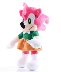 Pelúcia Amy Rose The Hedgehog 30Cm - Games Geek