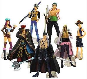 Kit com 07 personagens One Piece - Animes Geek