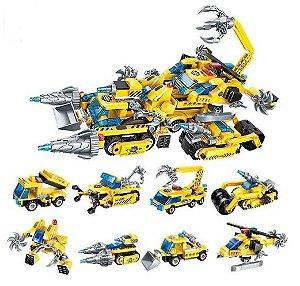 Blocos de Montar Transformation League Scorpion 619 peças - Construction Vehicles