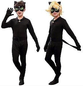 Cosplay Adrien Agreste Fantasia Cat Noir Miraculous - Infantil