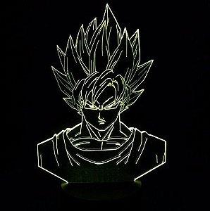 Luminária 3D Goku SSJ2 07 Cores - Dragon Ball Z