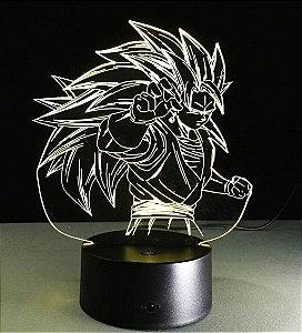 Luminária 3D Vegetto SSJ3 07 Cores - Dragon Ball Heroes