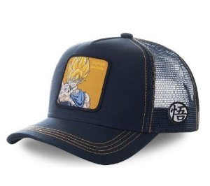 Boné Chapéu Ajustável Goku SSJ2 - Dragon Ball Z