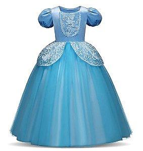 Fantasia Princesa Cinderela - Cosplay Infantil