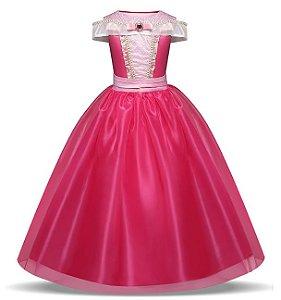 Fantasia Princesa Aurora - Cosplay Infantil