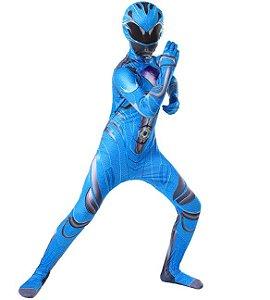 Fantasia Power Ranger Azul - Cosplay Infantil