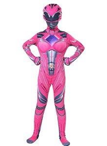 Fantasia Power Ranger Rosa - Cosplay Infantil