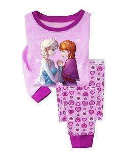 Pijama Frozen Anna e Elsa Infantil