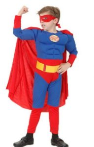 Fantasia Super Homem - Cosplay Infantil