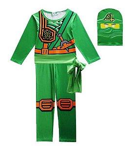 Fantasia Ninjago Ninja Verde - Cosplay Infantil