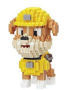 Mini Blocos de Montar Patrulha Canina 12 Cm - Rubble