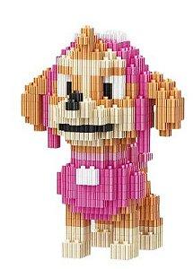 Mini Blocos de Montar Patrulha Canina 12 Cm - Skye