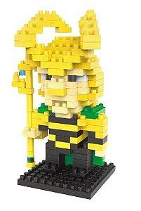 Mini Blocos de Montar Vingadores 06 Cm - Loki