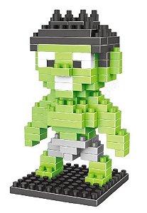 Mini Blocos de Montar Vingadores 06 Cm - Hulk