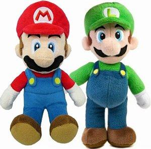 Kit Pelúcias Mário e Luigi - Games Geek