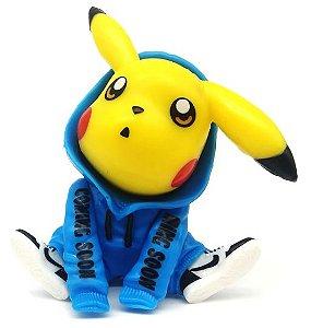 Mini Figure Pikachu Moletom Azul - Pokémon