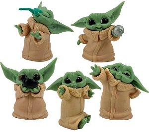 Pack 05 Mini Figures Baby Yoda - Star Wars