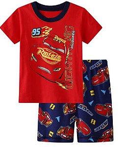Pijama Curto Relâmpago McQueen Ver. 4 Infantil