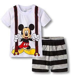 Pijama Curto Mickey Ver. 5 Infantil