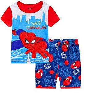 Pijama Curto Homem Aranha Infantil