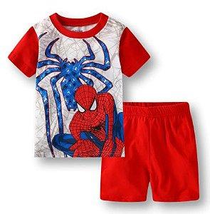 Pijama Curto Homem Aranha Ver. 3 Infantil