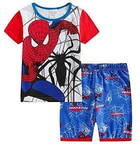 Pijama Curto Homem Aranha Ver. 5 Infantil
