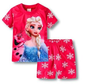 Pijama Curto Frozen Ver. 2 Infantil