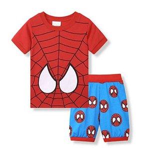 Pijama Curto Homem Aranha Ver. 8 Infantil