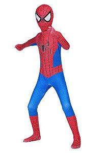 Fantasia Cosplay Spider Man Classic Alta Qualidade - Infantil
