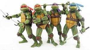 Tartarugas Ninjas Kit com 4 Action figures Anos 90 - Neca