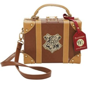 Bolsa Mala Couro Escola de Hogwarts - Harry Potter