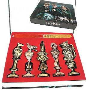 kit 5 Sinetes para Lacre de Cera casas de Hogwarts - Harry Potter