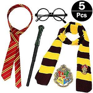 Cosplay Harry Potter Kit Com 5 Peças