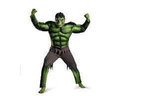 Fantasia Cosplay Infantil Hulk Com Máscara - Marvel Vingadores