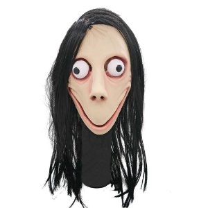 Máscara Látex Momo Cosplay Assustador Internet - Fantasias