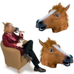 Cosplay Máscara Cabeça de Cavalo BoJack Horseman - Fantasias