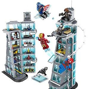 Vingadores 1300 peças Ataque a torre Avengers - Blocos de Montar
