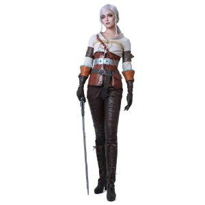 Fantasia Cosplay Ciri The Witcher Caçada Selvagem - Cosplay