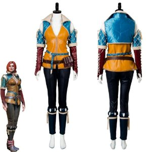 Fantasia Cosplay Triss Merigold The Witcher Caçada Selvagem - Cosplay