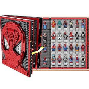 Homem Aranha Book Spider Man 2852 peças + 52 Personagens - Marvel