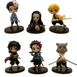 Kimetsu no Yaiba Kit com 6 Personagens Kawaii - Demon Slayer