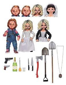 Action Figure Chucky e Tiffany Ultimate Bride Of Chucky - Neca