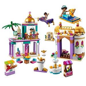 Palácio Jasmine e Aladdin 483 peças + 3 Personagens - Blocos de Montar