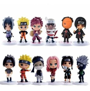 Kit Naruto Shippuden Lote com 12 Personagens - Anime Geek