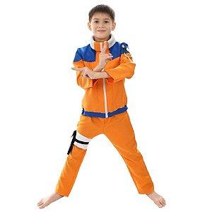 Cosplay Naruto Uzumaki Fantasia Naruto Infantil - Infantil
