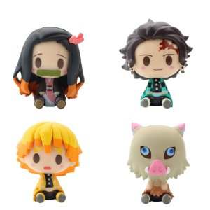 Kit 4 Figuras Kimetsu no Yaiba 5 Cm - Demon Slayer