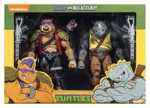 Kit 2 Action Figures Bebop e Rocksteady TMNT - Nickelodeon