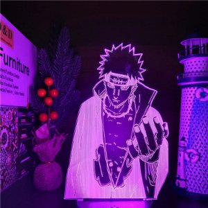 Luminária 3D LED Pain Akatsuki 16 Cores com controle remoto - Naruto Shippuden