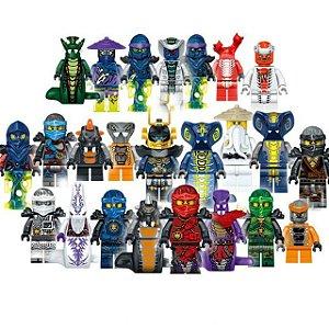 Kit com 24 personagens Ninjago - Blocos de Montar